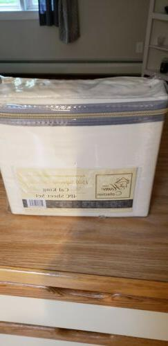 Sweet Home Collection 1500 Cal King Sheet Set, Beige.