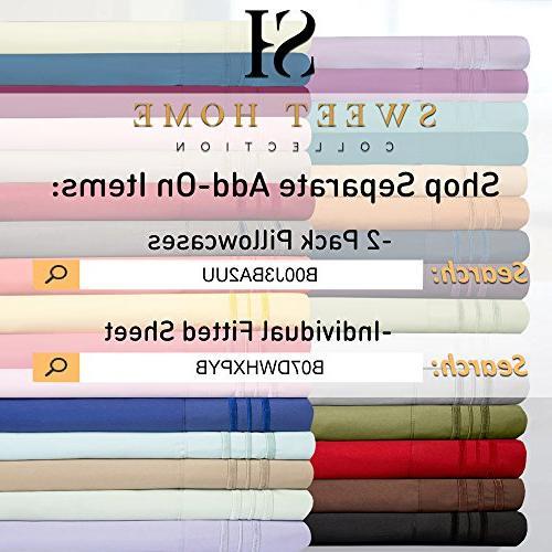 1500 Extra Soft King Camel - Sheets Set Pocket Wrinkle Hypoallergenic Bedding, Over 40 King Camel
