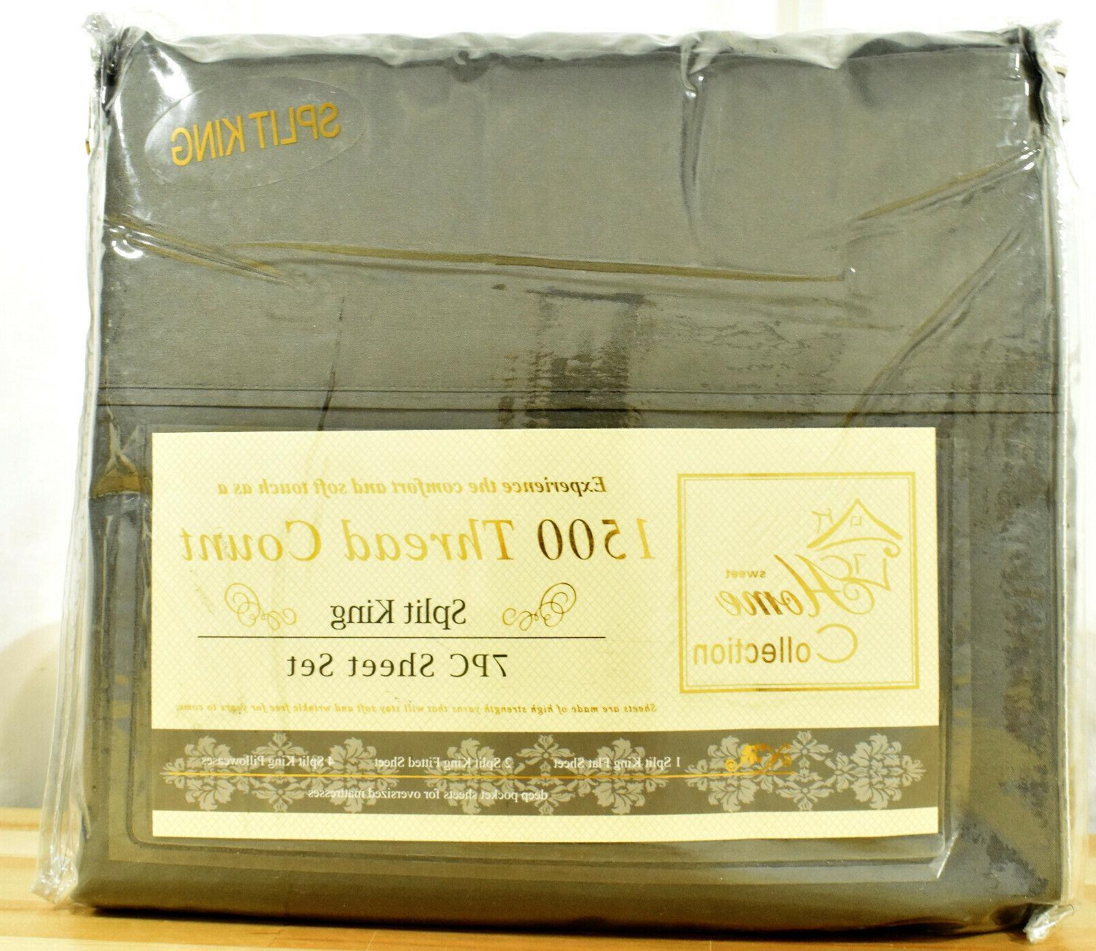 1500 thread count split king sheet set