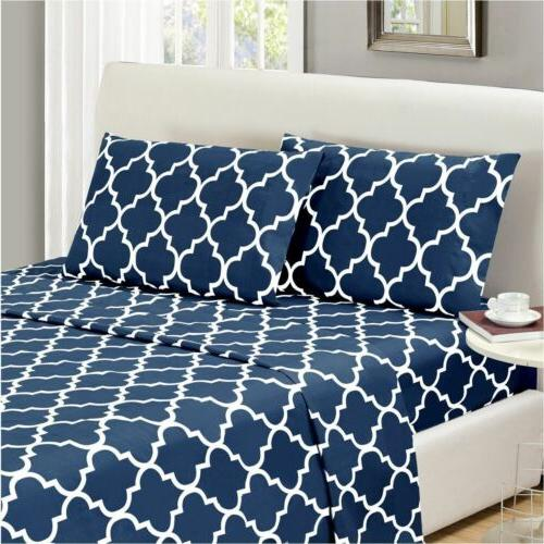 Mellanni 1800 Bed Sheet Set Wrinkle, Fade, Stain Resistant