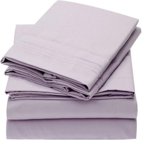 Mellanni 1800 Bed Sheet Set Hypoallergenic