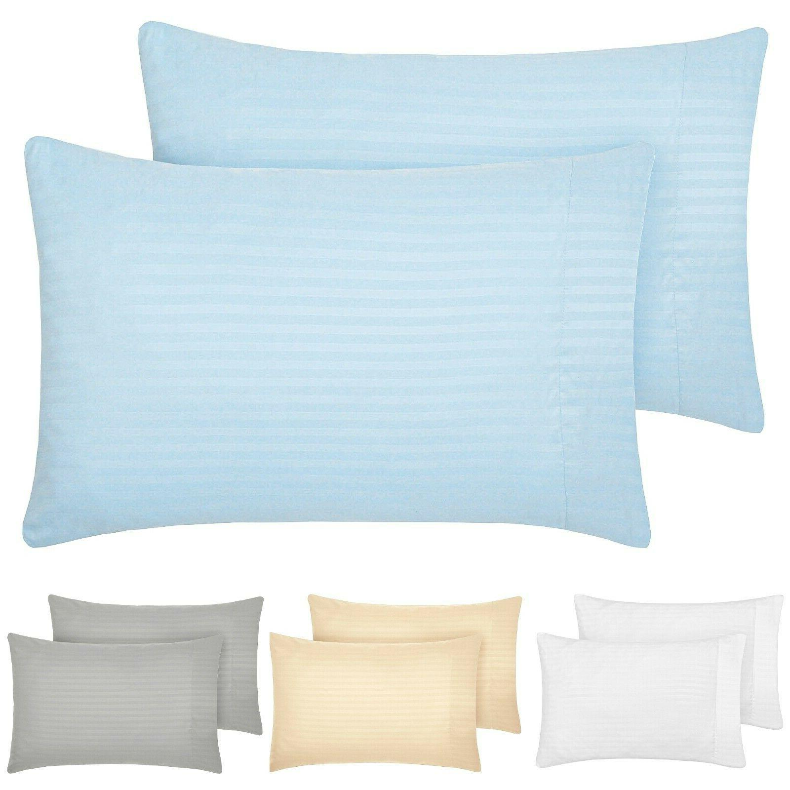 1800 collection striped pillowcase set wrinkle fade