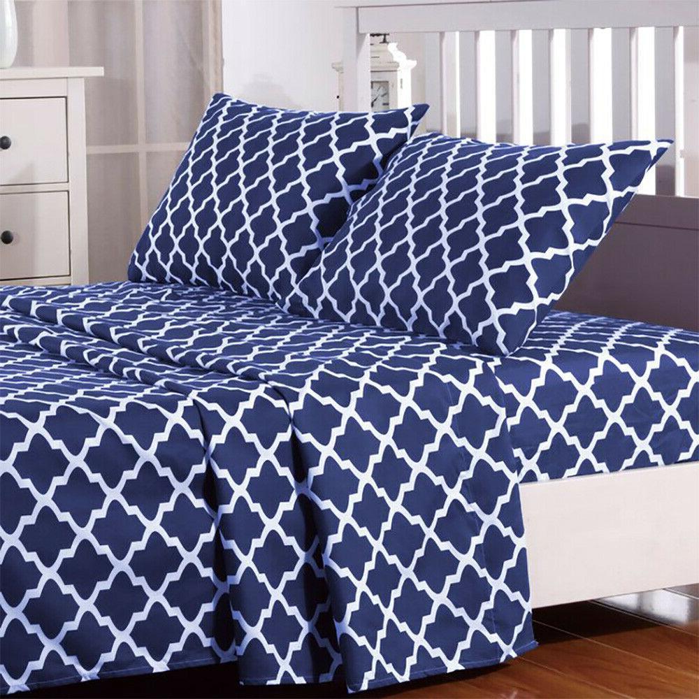 Egyptian Comfort Bed Sheet Set 1800 Count 4 Piece Deep Pocke