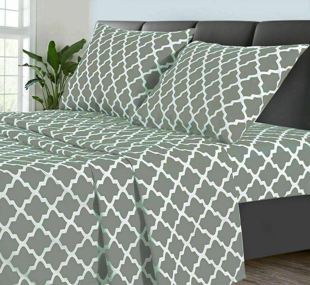 Egyptian Comfort Bed Sheet Set 1800 Piece Deep Bed