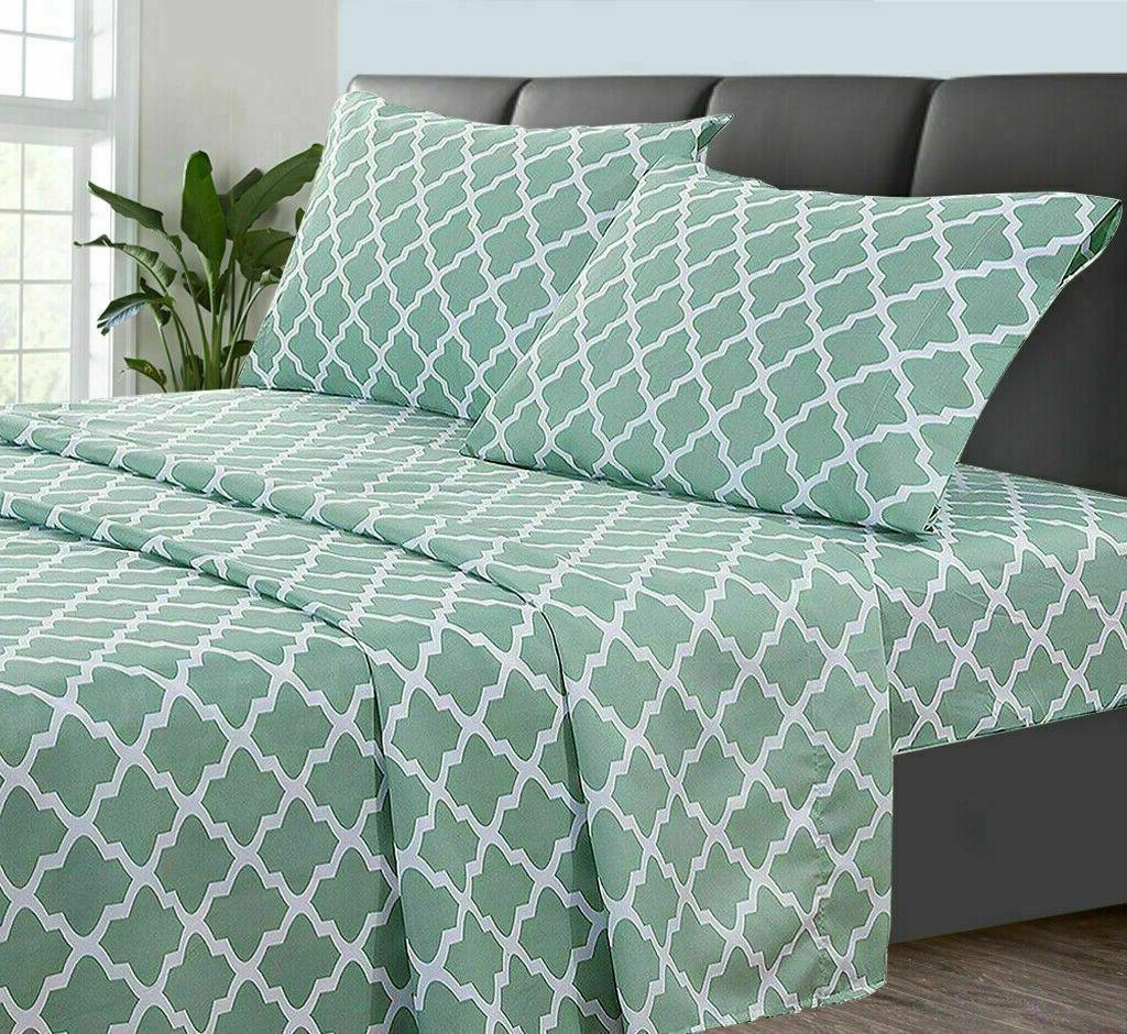 Egyptian Comfort Sheet Set 1800 Series Piece Deep Soft Bed