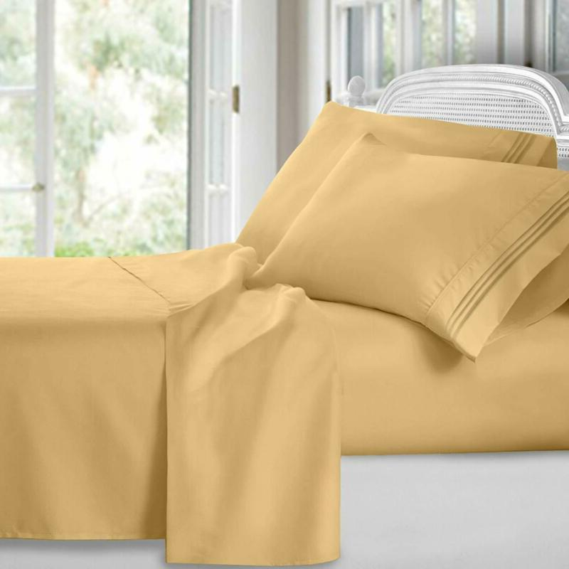 Clara Clark 1800 Premier Series 4Pc Bed Sheet Set - King, Ca