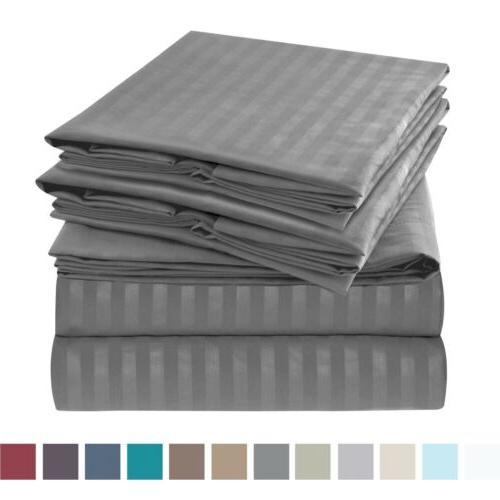 1800 series 6 piece bed sheet set