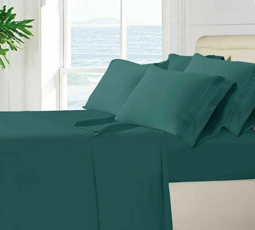 Egyptian Comfort 1800 Series 6 Piece Bed Sheet Deep Pocket H
