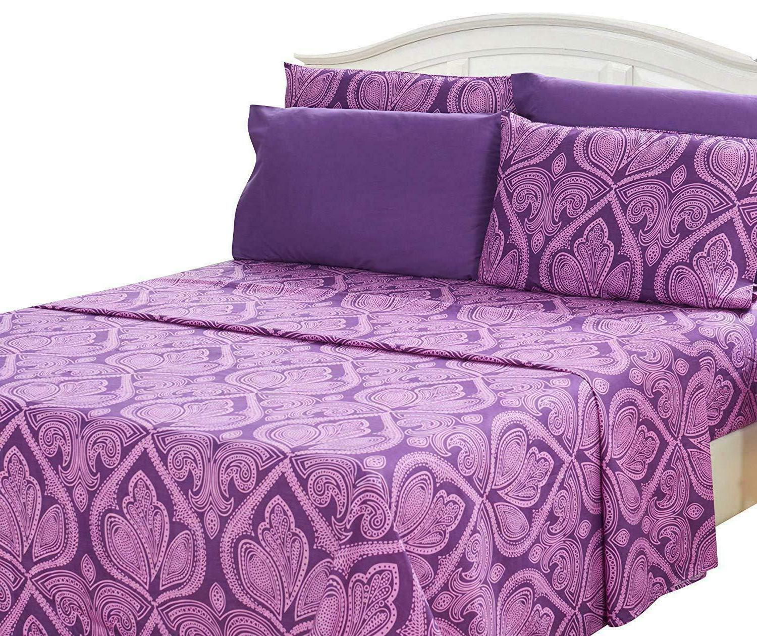 6 Piece Bed Sheets Deep Pocket Egyptian Comfort 1800 Series
