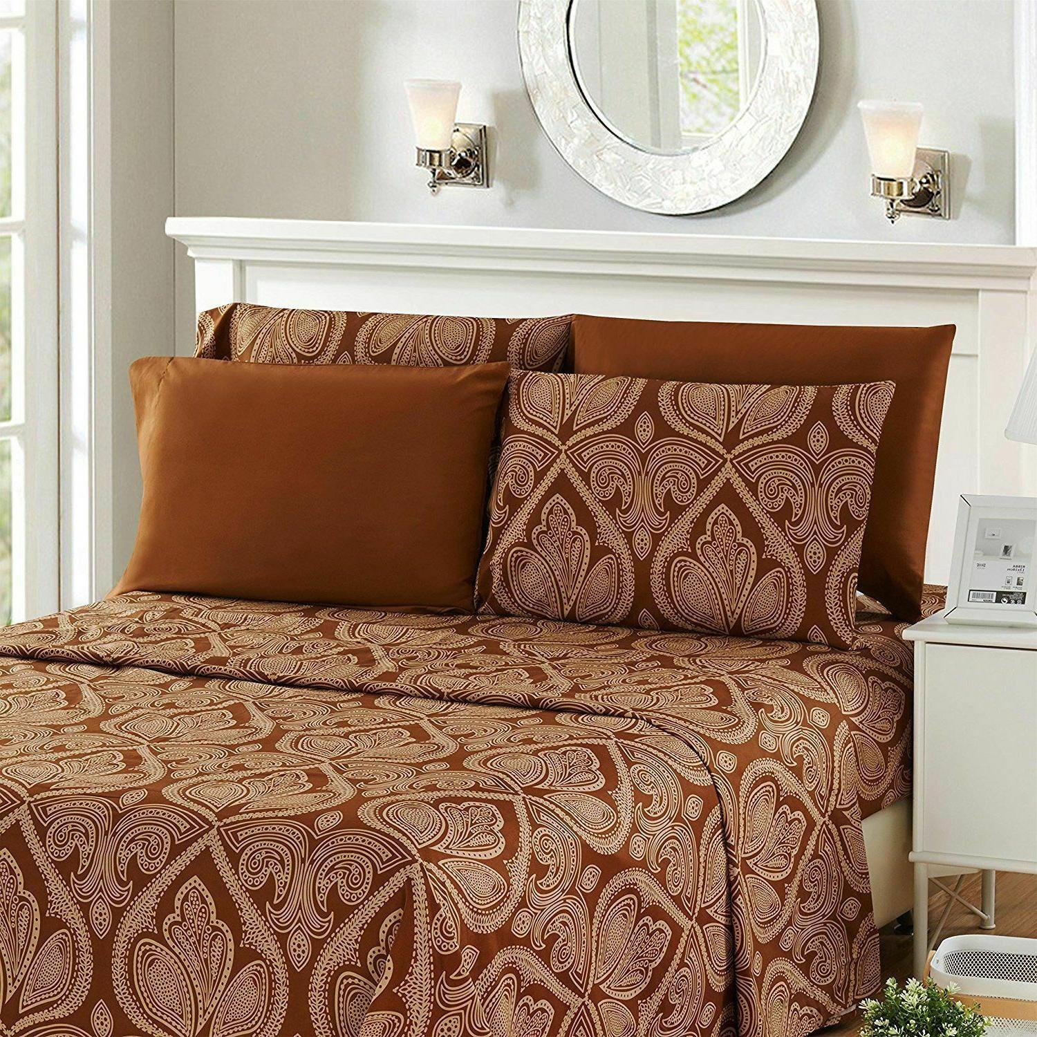 6 Piece Egyptian 1800 Thread Bed Sheets set