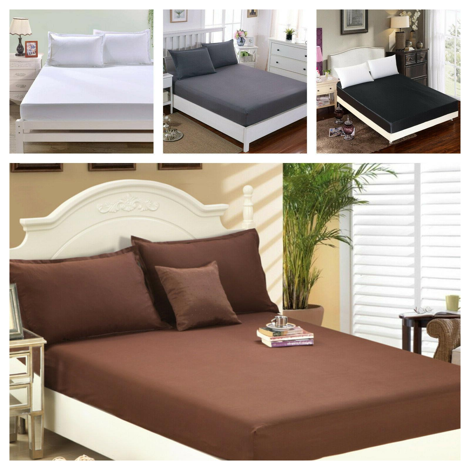 1900 count wrinkle free fitted bed sheet