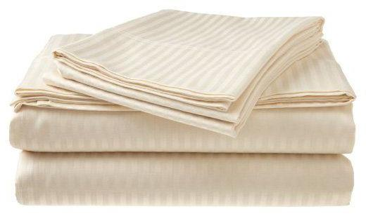 2 PACK:Deluxe , 400 Thread Cotton Dobby Stripe