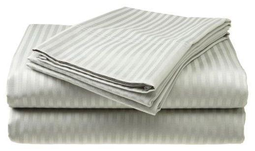 2 PACK:Deluxe Hotel 400 Thread 100% Cotton Dobby Stripe
