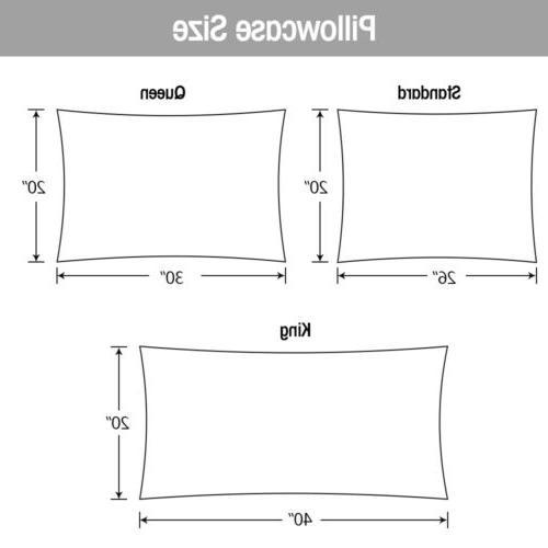 2Pcs Standard Satin Pillowcase Pillow Case Cover Home Bedding