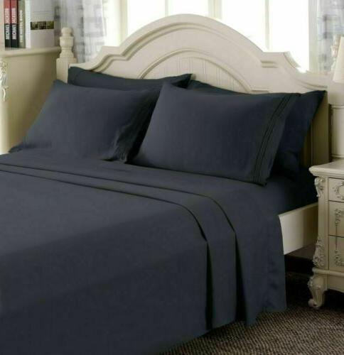 4 Piece Deep Bed 1800 Count Queen