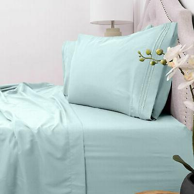 4 piece deep pocket bed sheet set