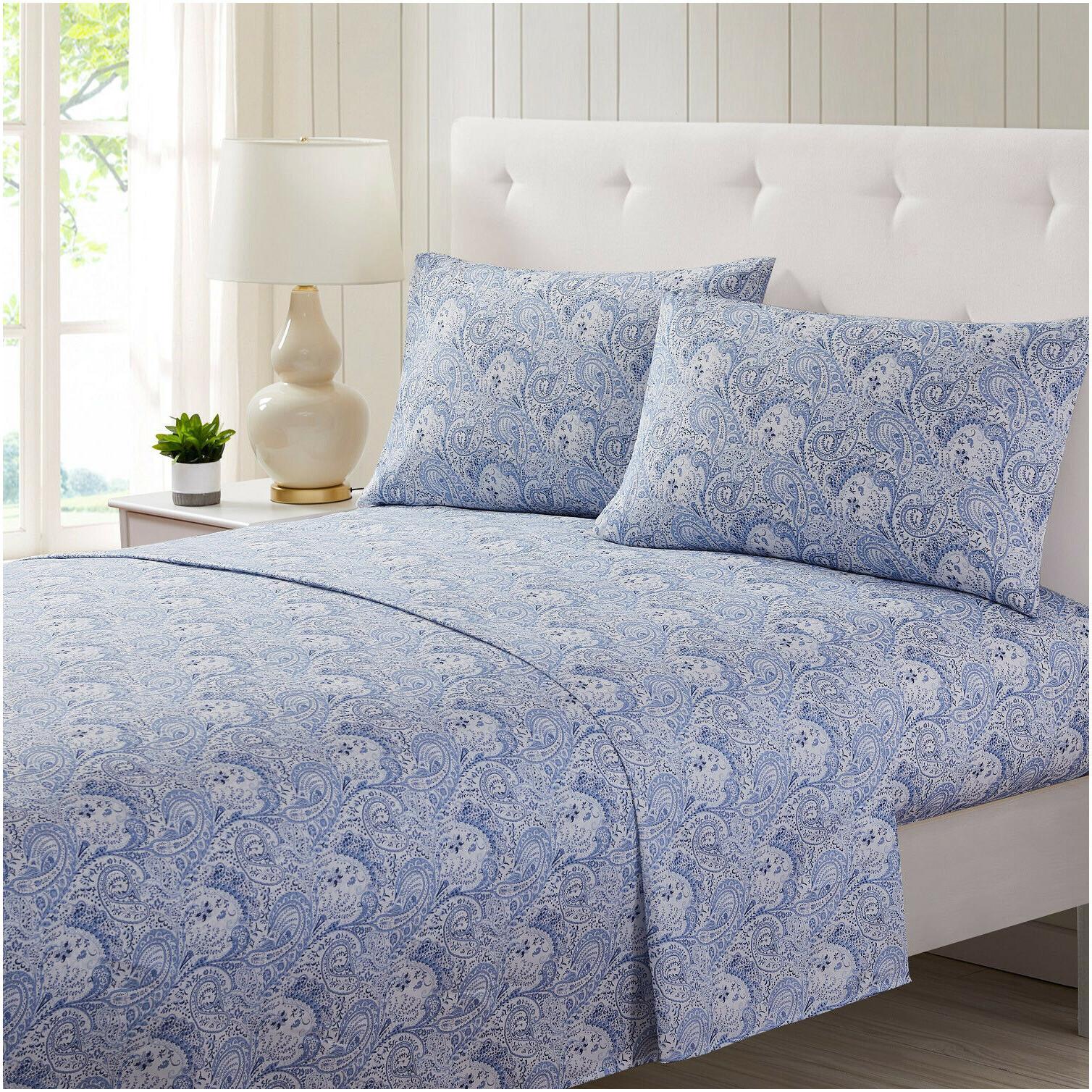 4 piece microfiber bed sheet set deep