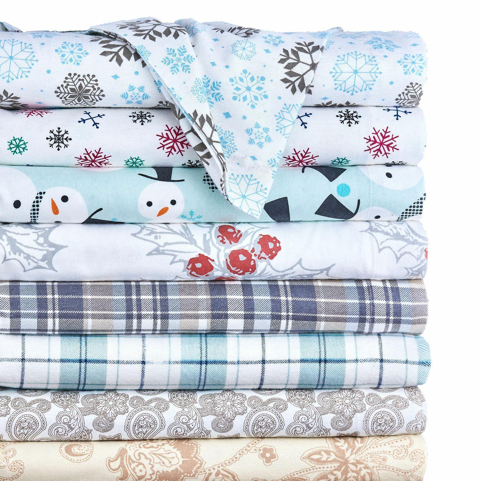 4 piece set 100 percent cotton flannel