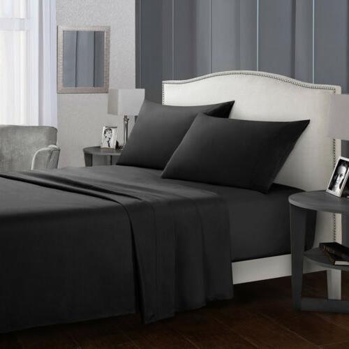 4 Sheet Set 1800 Count Bed Full King