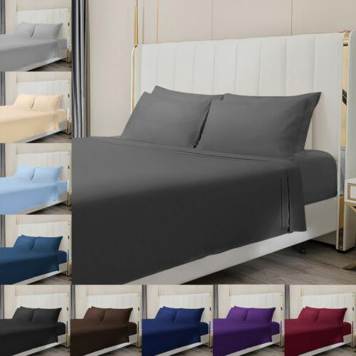 4 pieces sheet bed set 1800 count