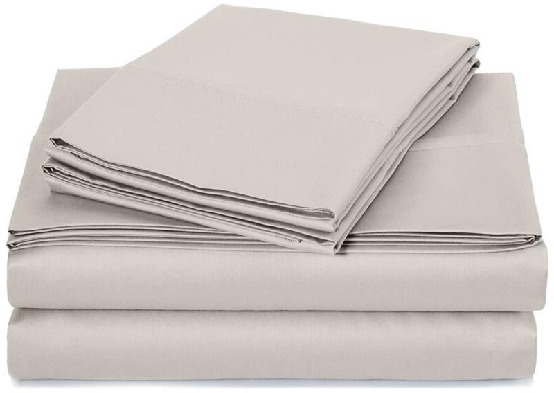 400 Thread Count Sheet Set, 100% Cotton, Sateen Finish - Cal