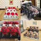 4pcs 3D Printed Bedding Set Fitted Sheet Bed Cover Pillowcas