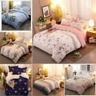4pcs Bedding Set  Bed Sheet Cover 2 Pillowcases Queen/King S