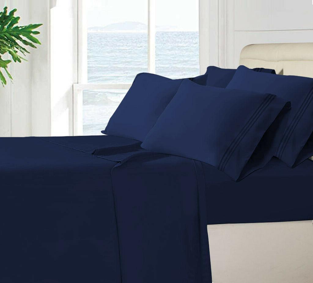 Egyptian 6 Bed Sheets Set Ultimate Pocket Sheets