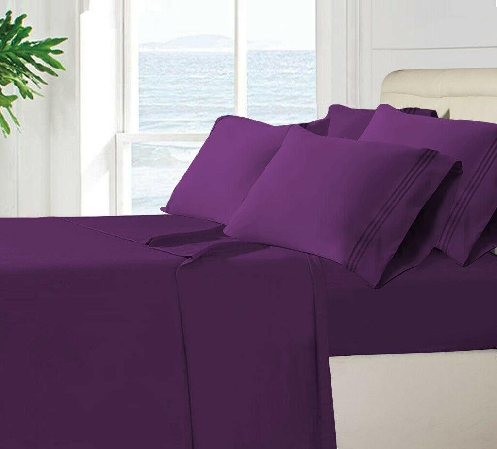 6 Piece Bed Sheets Egyptian Comfort 1800 Deep Pocket Ultimat