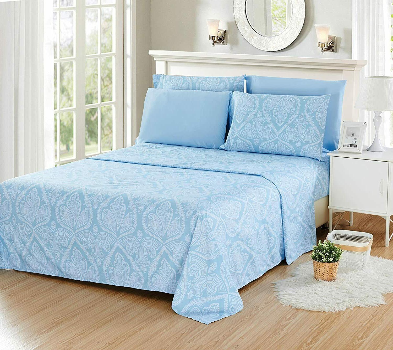Deep Pocket Bed Sheet Series Comfort Paisley Sheets