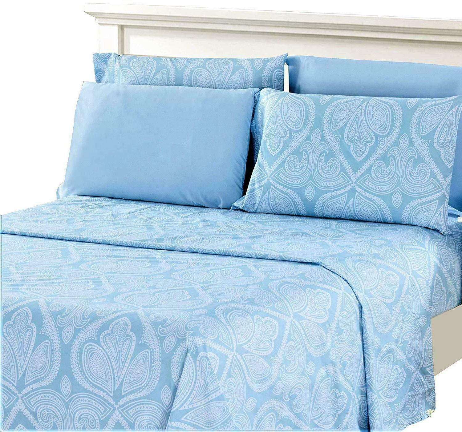 Bed 1800 Count Egyptian Paisley Sheets