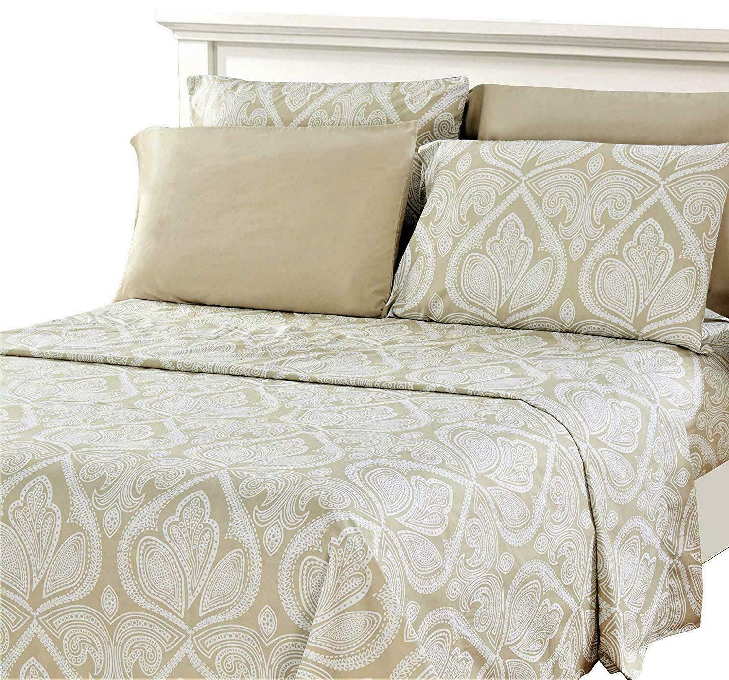 Bed Sheet Count Egyptian Comfort Paisley Sheets