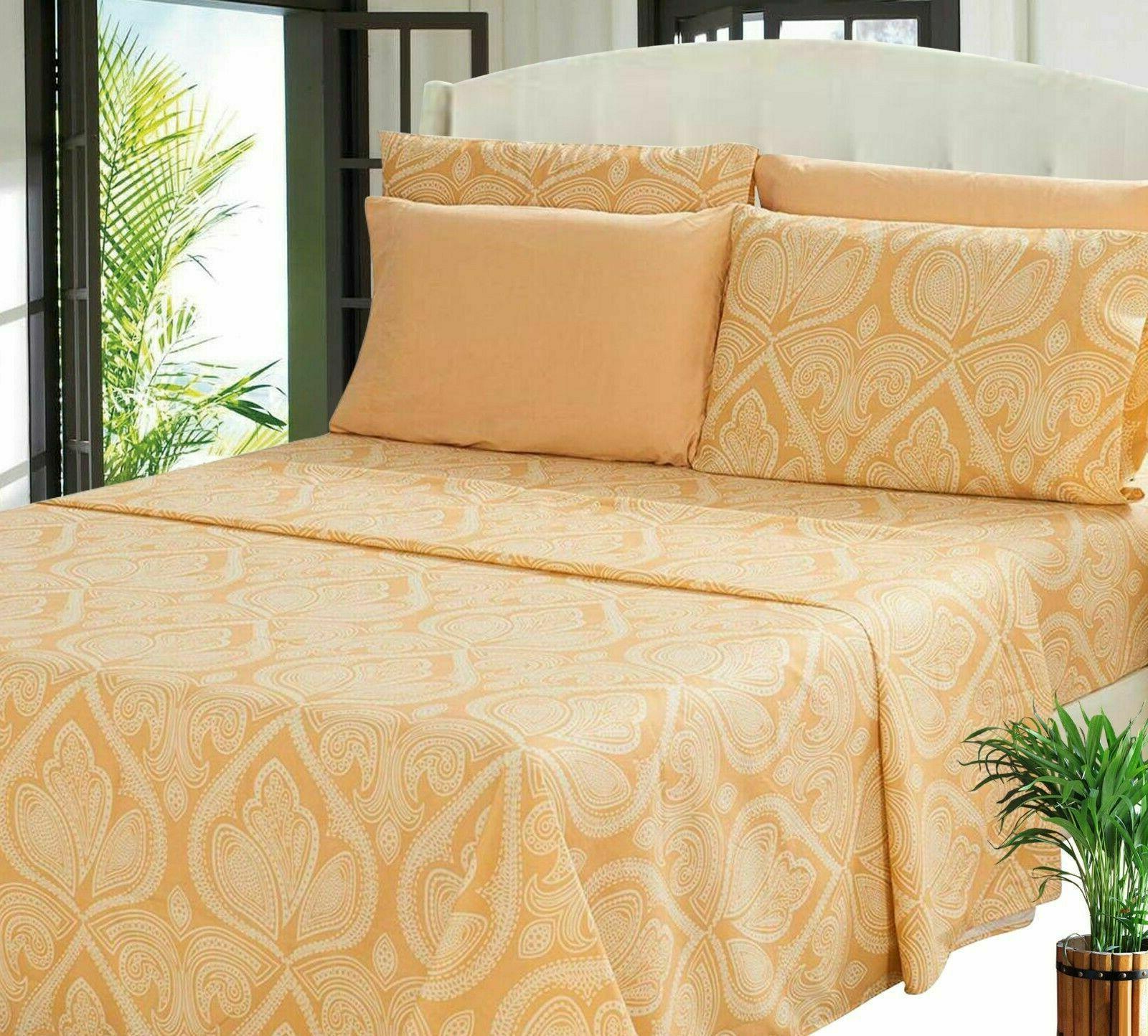Deep 6 Bed Set 1800 Count Egyptian Sheet
