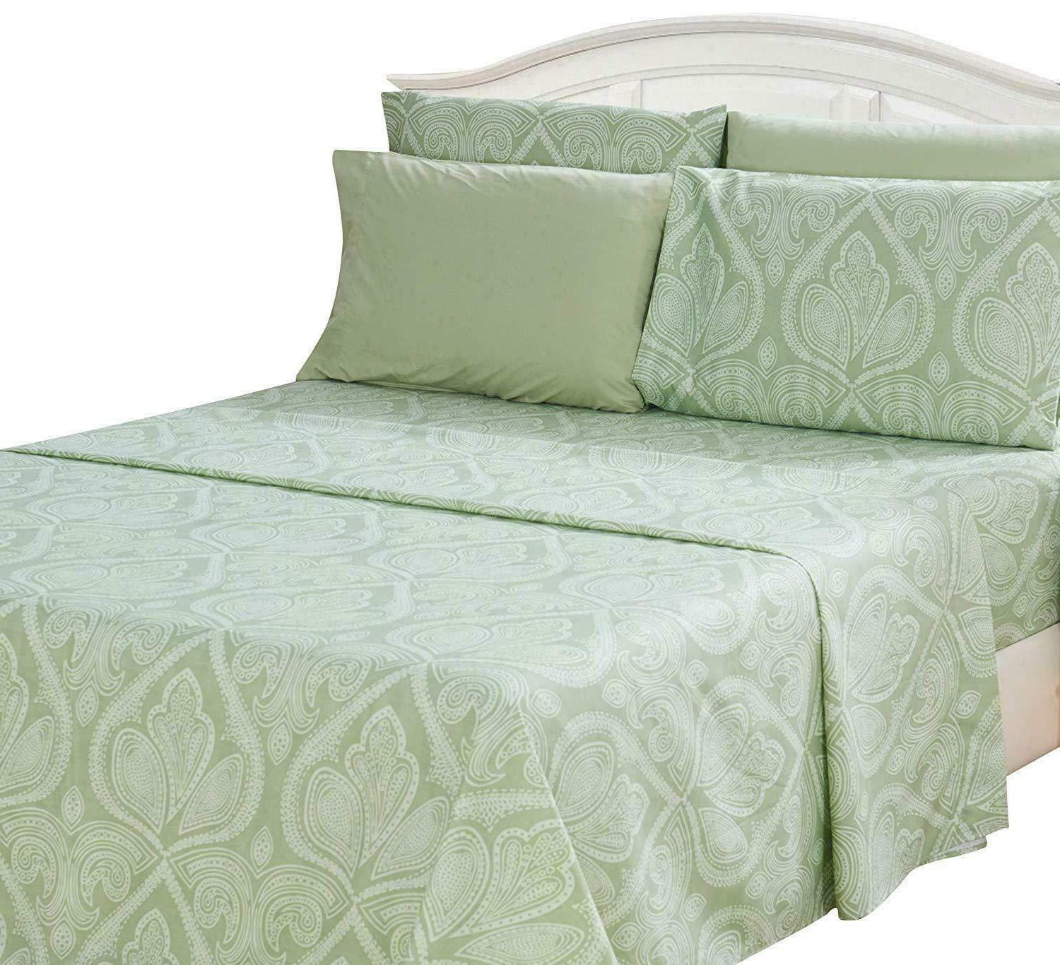Deep 6 Piece 1800 Count Egyptian Comfort Sheet Set