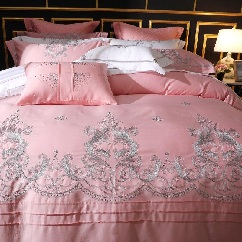 650 Embroidery 4 Piece Sets 100% Staple Bed <font><b>Sheets</b></font> Sets