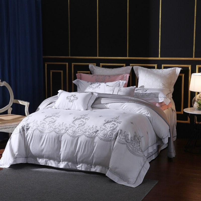 650 Thread Count Embroidery Sets 100% Staple Bed <font><b>King</b></font>