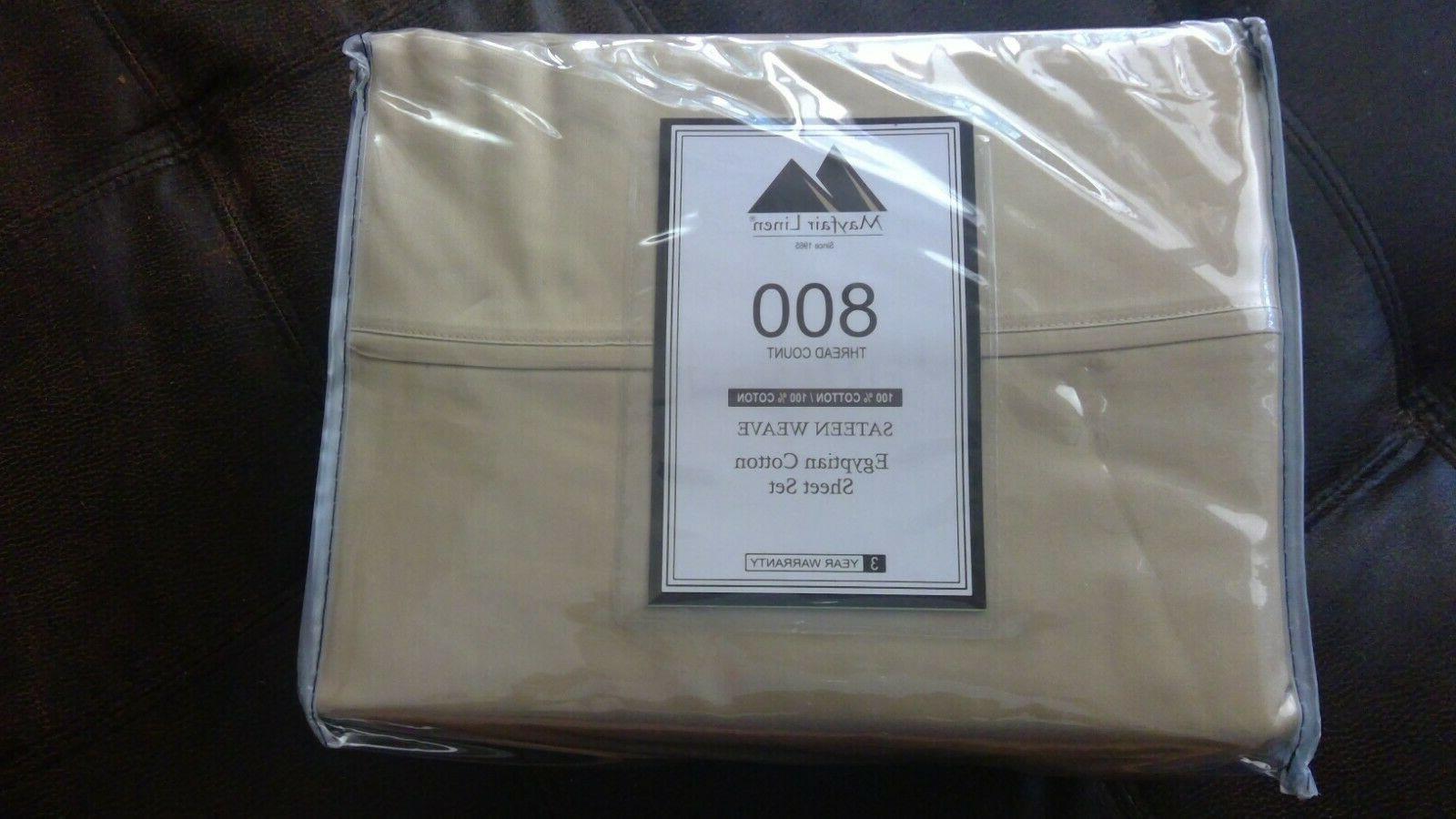 800 thread count 100 percent egyptian cotton