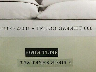 800TC Split Sheet DP 100% Cotton
