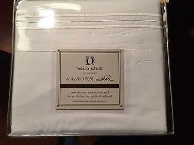 Clara Clark Deluxe Sheet Set Premier 1800 Collection King Wh