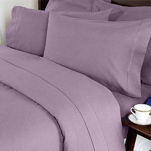 """Elegance Linen ® 1200 Thread Egyptian 4 pc Deep to 18"""" and , Lilac"""