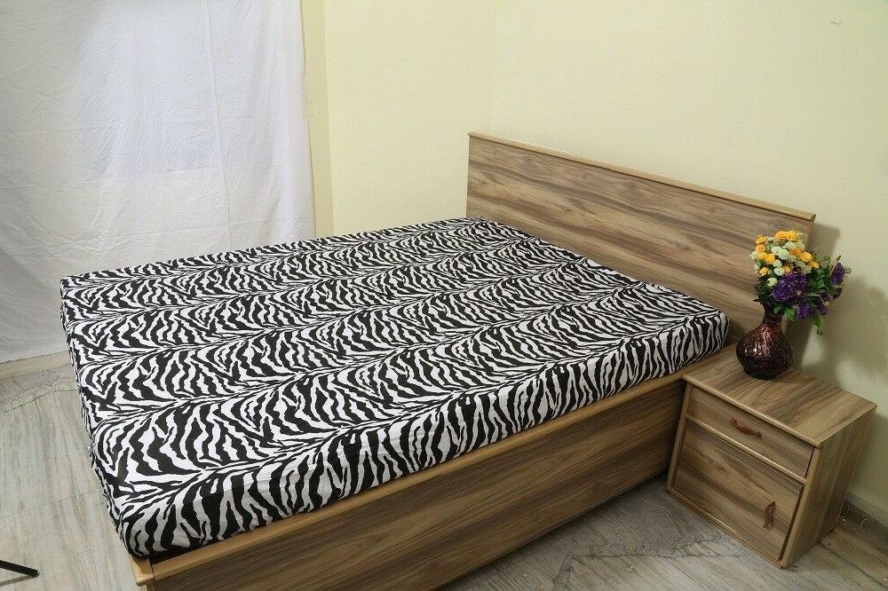 Fitted Qty Only Zebra Solid Cal-King Size Quality 600