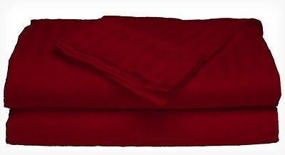 King Size Burgundy 400 Thread Count 100% Cotton Sateen Dobby