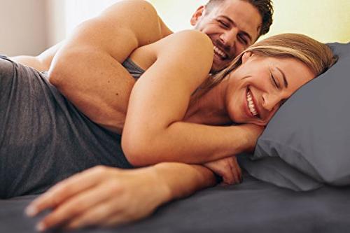 King Sheet - - Hotel Sheets - Deep - Easy & Sheets Wrinkle Free - - - Grey Bed - Sheets -
