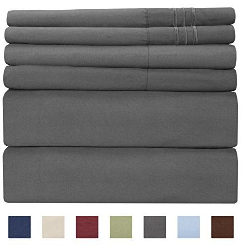 - Piece - Sheets - Extra Soft - Easy Fit - & Wrinkle - - Bed Sheets - Kings Sheets