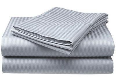 King Size Silver/Gray 400 Thread Count 100% Cotton Sateen Do