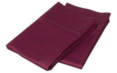 MARRIKAS 300TC Egyptian Cotton KING Pillowcase Pair BURGUNDY