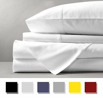 Mayfair Linen 600 Thread Count 100% Cotton Sheets - White Lo