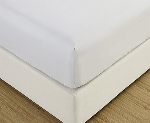 Mellanni Fitted White Bedding Wrinkle, Fade, Stain Resistant -