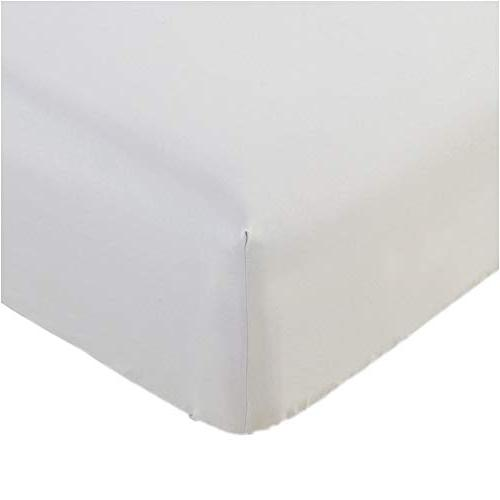 Mellanni Fitted Sheet King White Brushed Microfiber 1800 Bed