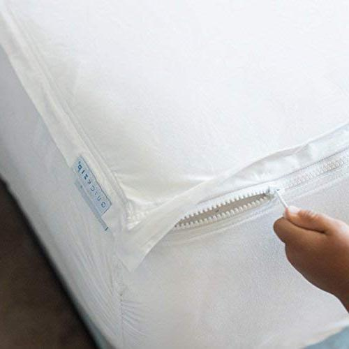 """QuickZip Fitted Sheet Base 2 Zip-On Sheets Change, Fold & King - Soft Sateen Fitted Sheets – 17.5"""" Deep Pockets King Sheets"""